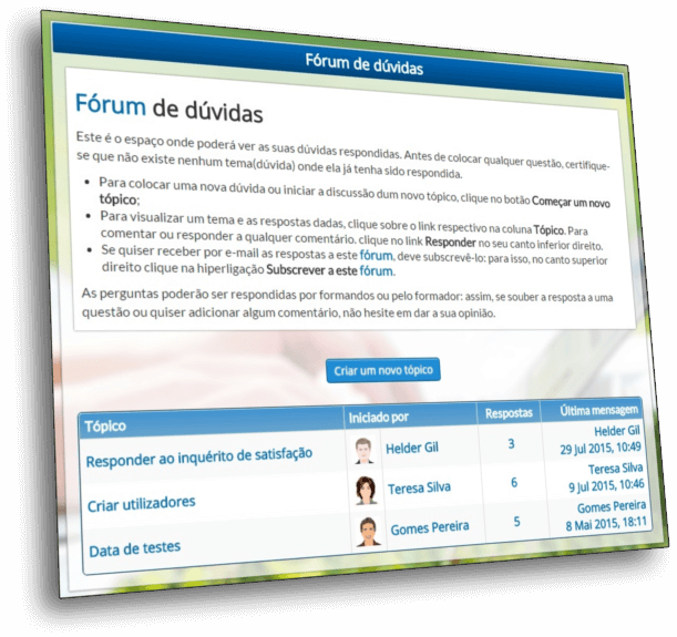 Plataforma e-Learning - Fórum