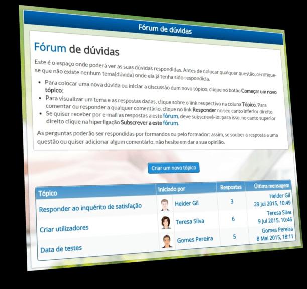 Plataforma e-Learning - Fórum