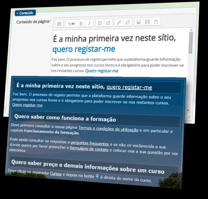 Plataforma e-Learning - Página HTML