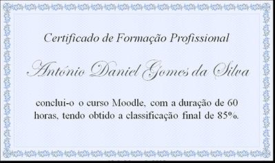 Plataforma e-Learning - Certificação