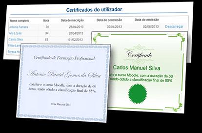 Plataforma e-Learning - Certificados