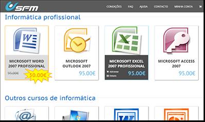 Plataforma e-Learning - Loja online