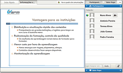 Plataforma e-Learning - Sala virtual